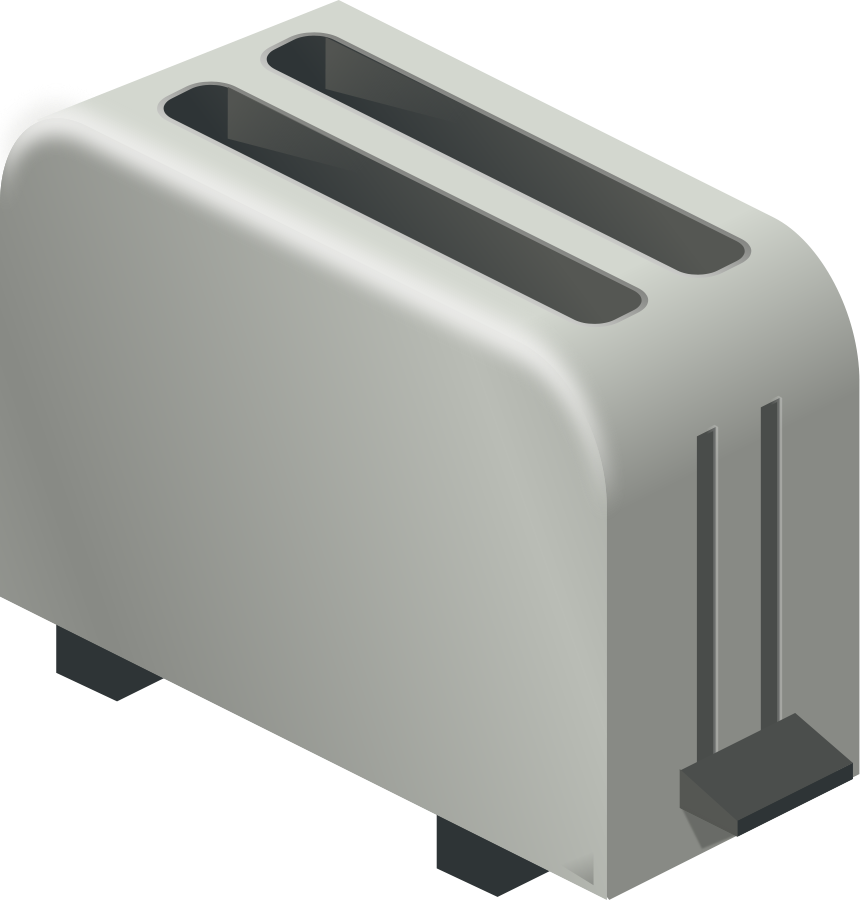 Toaster clipart small appliance. Isometric large pixel design