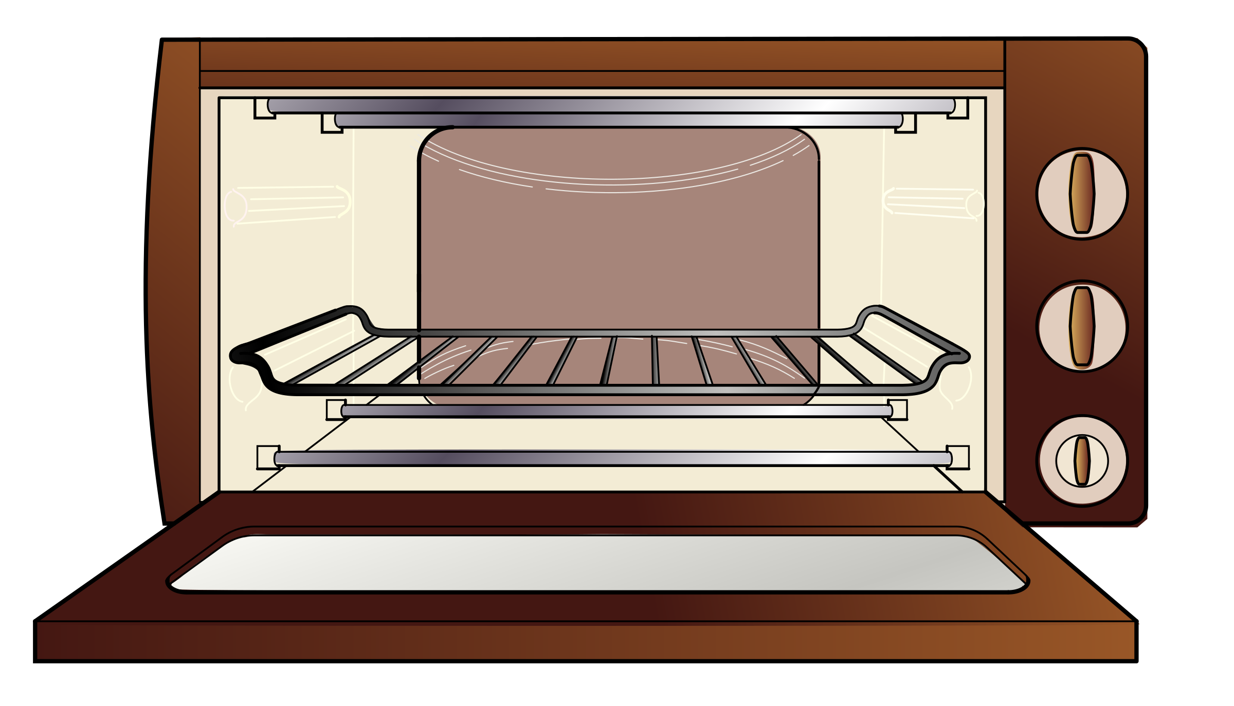 Oven vector toaster. Cliparts for free