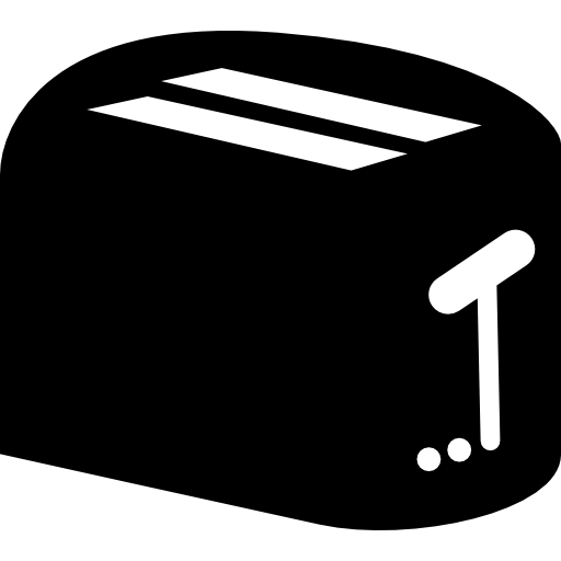 Toaster vector. Free tools and utensils