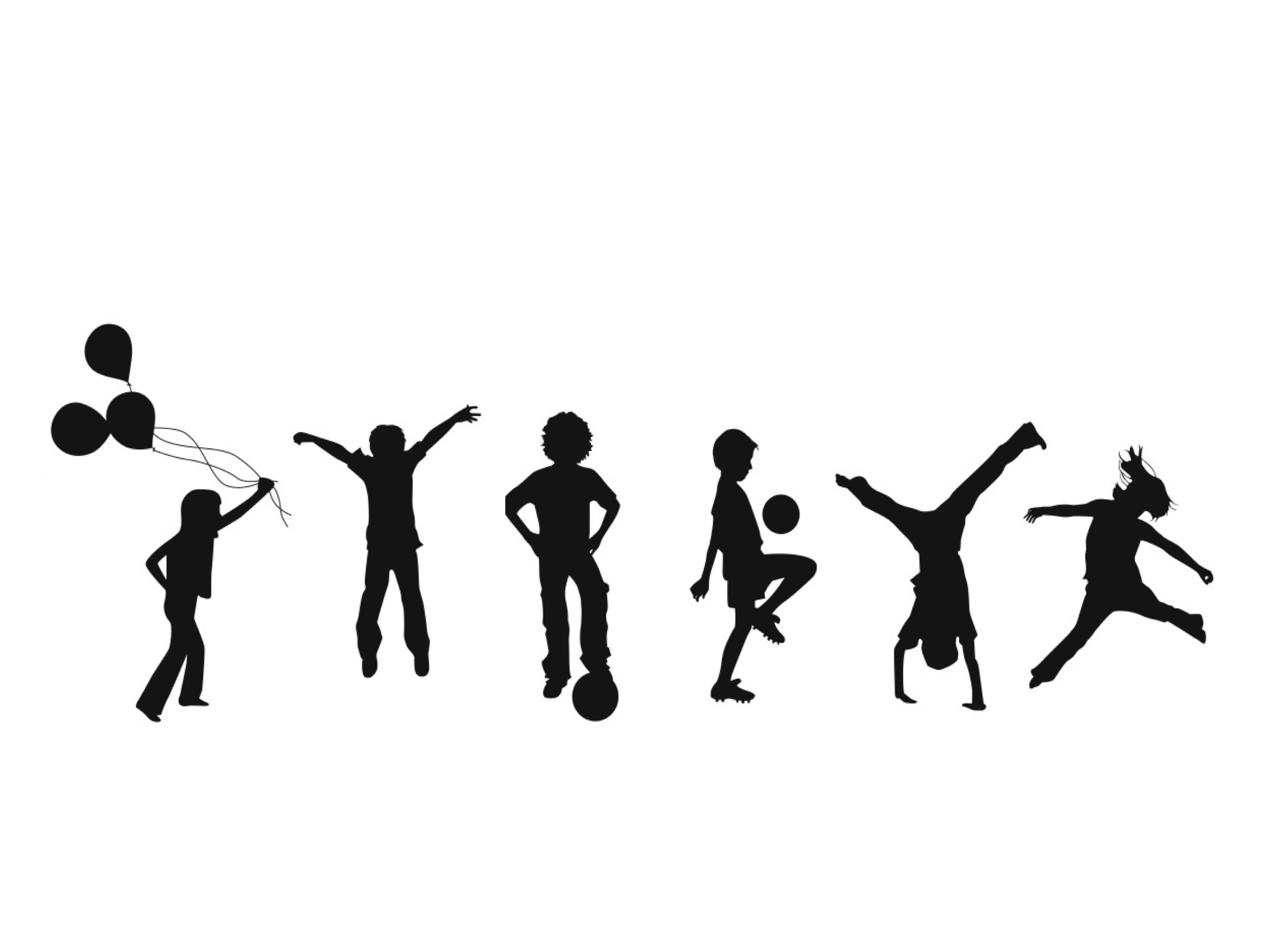 Toddler clipart active kid. Jumping silhouette at getdrawings