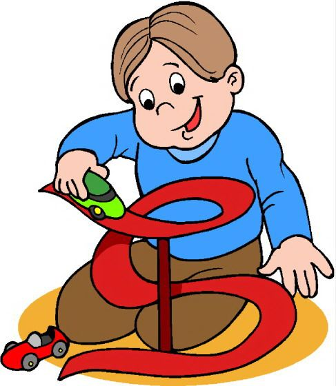 Toddler clipart indoor. Children playing toys shop