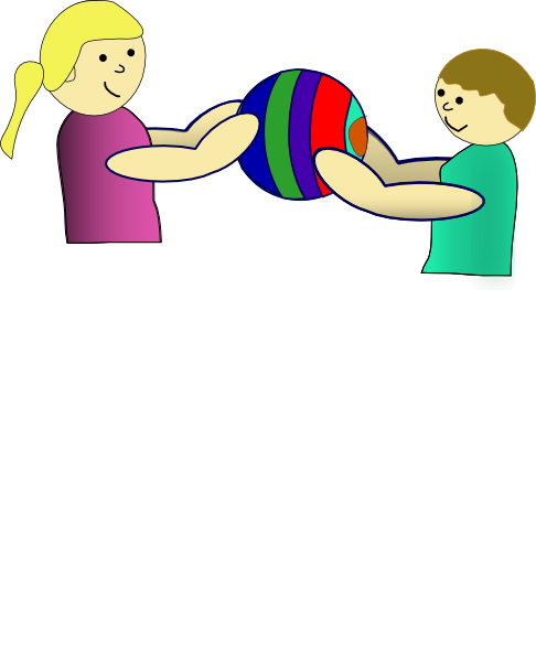 Toddler clipart share toy. Nlyl children sharing a