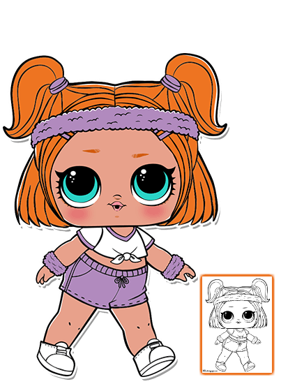 Toddler clipart surprised. Lol surprise doll coloring
