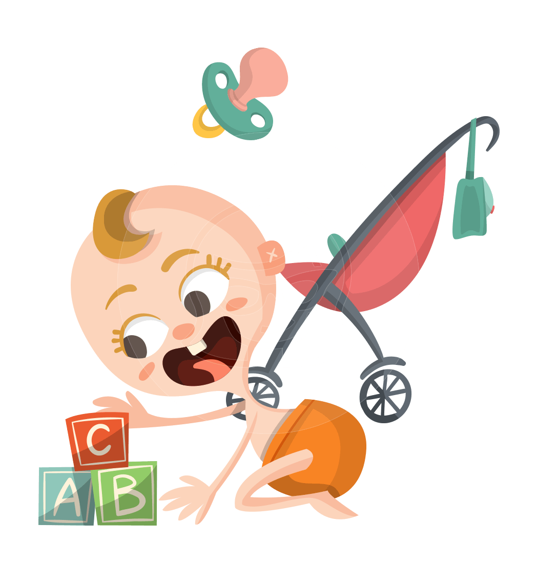 Vector clothes kid. A baby themed graphic