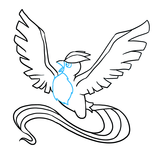 Toe drawing fish. How to draw articuno