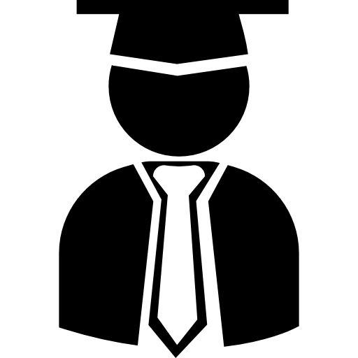 Toga drawing hat. Graduate student with graduation