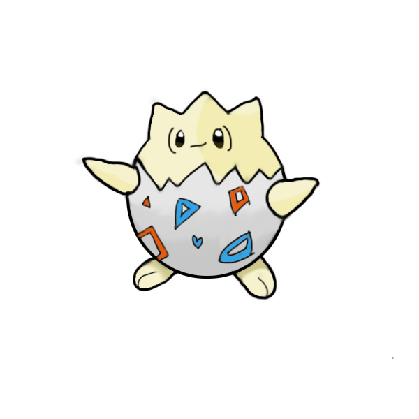 Togepi drawing. By i pokemon on picture library