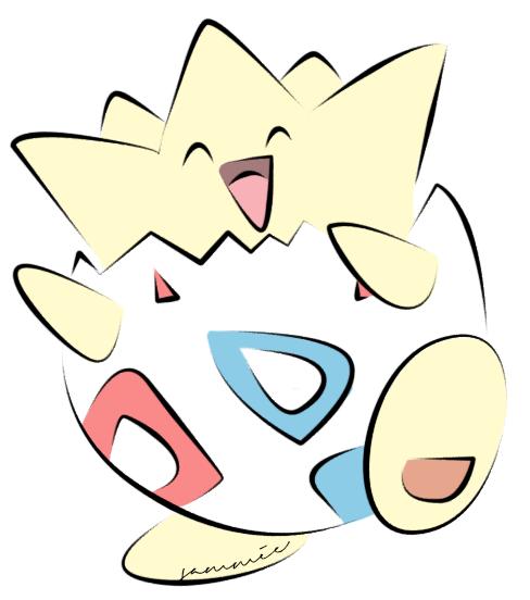 Coloured by ensnarings pokemon. Togepi drawing clipart library library