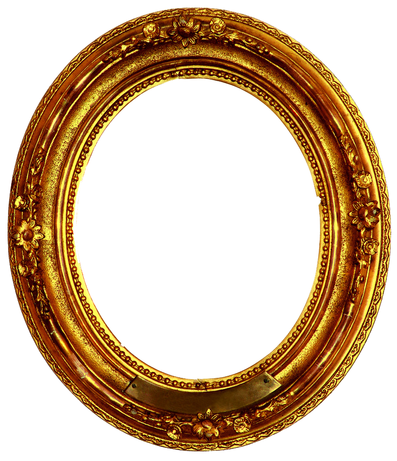 Golden circle png. Frame decorative by r