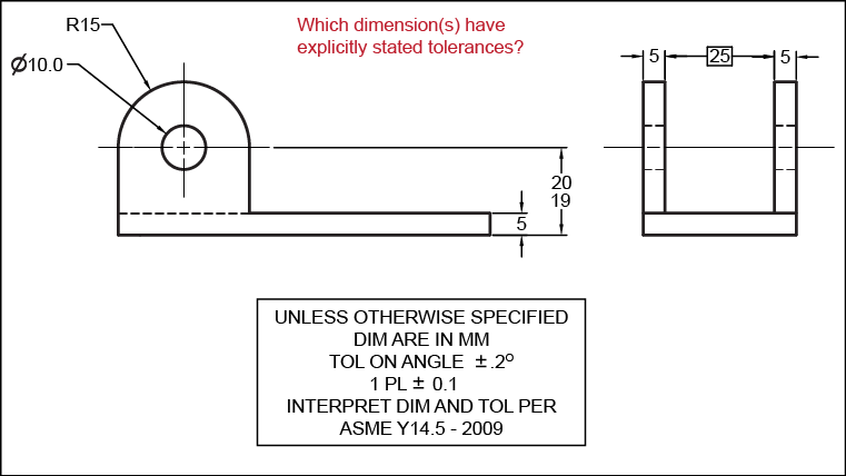 Tolerance drawing dwg. Exercise dimension choice ex