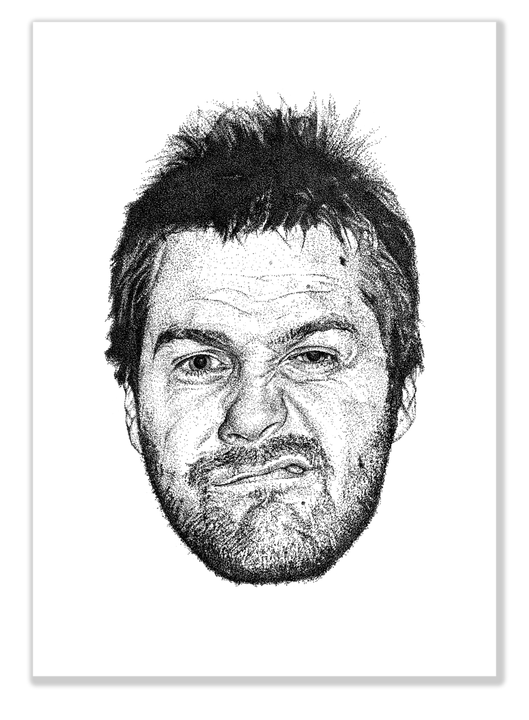 Tom drawing man. T is for meighan