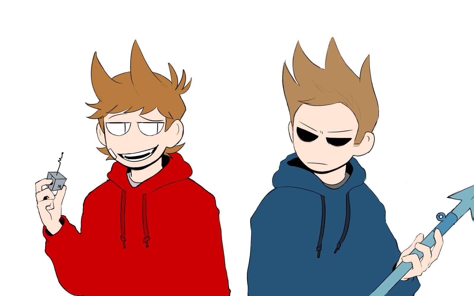 Tom drawing tord. Im gonna press the