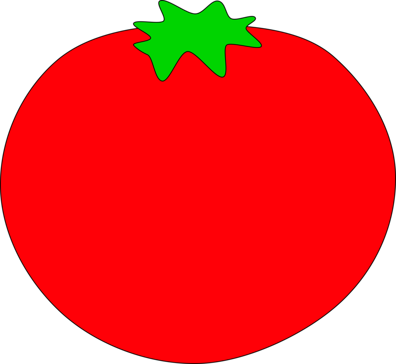 Tomato clip coloured. Red salad photobucket drawing