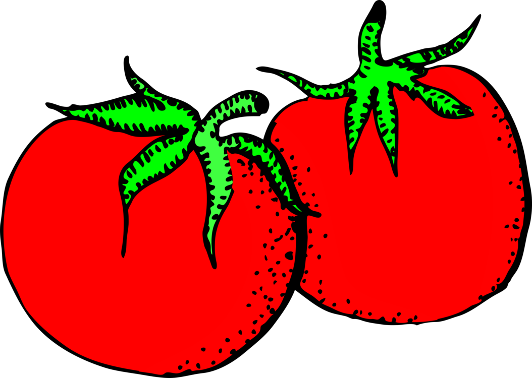 Tomato clip commercial. Fruit drawing food graphic
