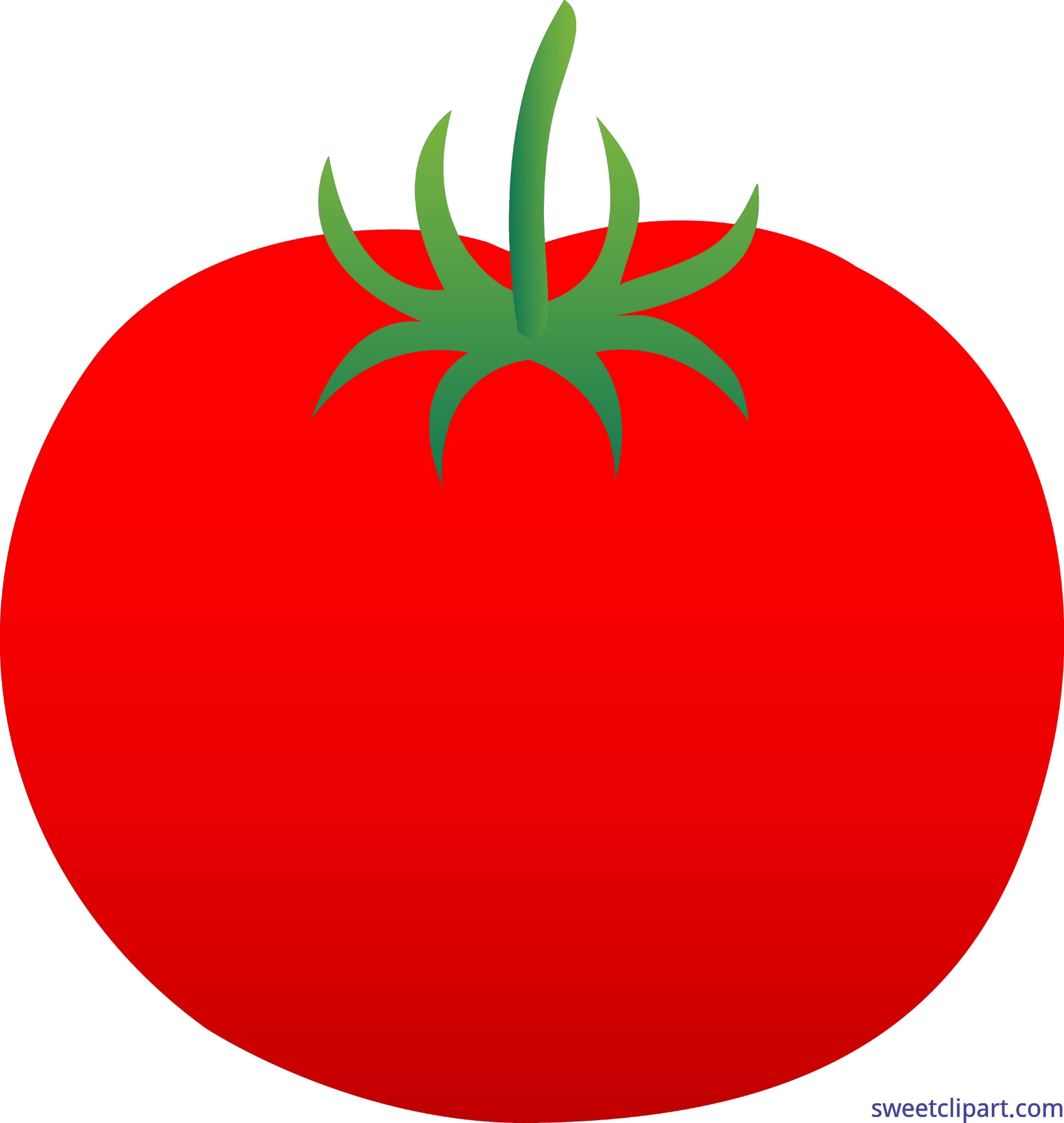 Tomato clip. Red art sweet