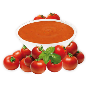 Tomato soup png. And basil mix the