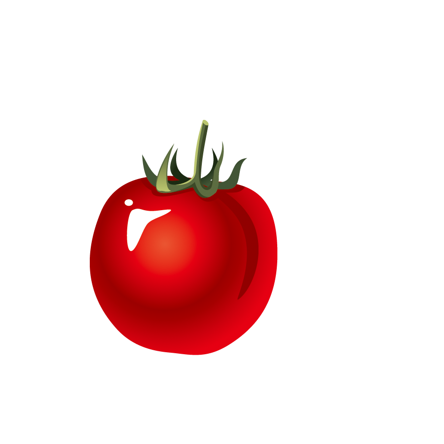 Tomatoes drawing. Tomato juice cartoon decoration