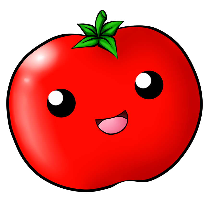 Tomatoes drawing. Kawaii tomato by chloeisabunny
