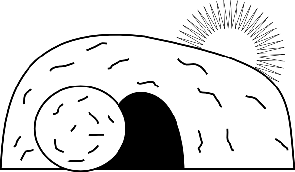 Tomb drawing easter. Empty clip art at