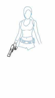 Tomb drawing easy. How to draw lara