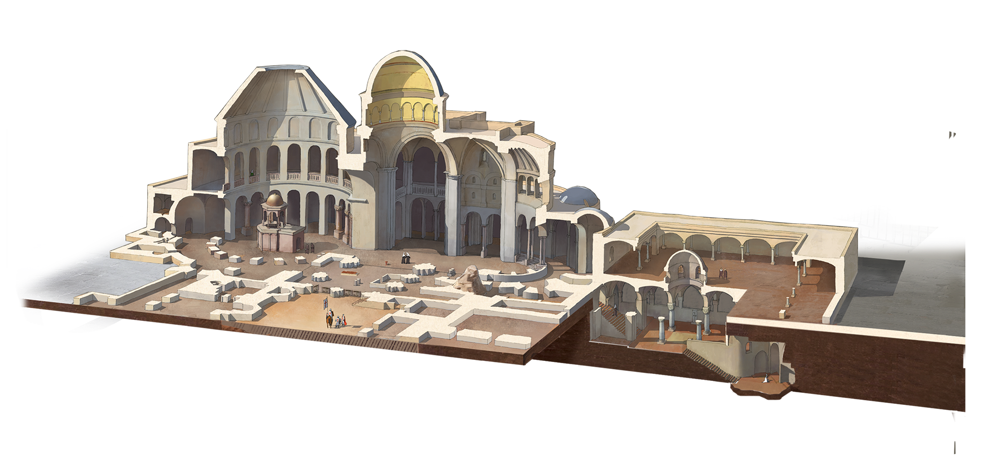 Tomb drawing sepulcher. The evolution of church