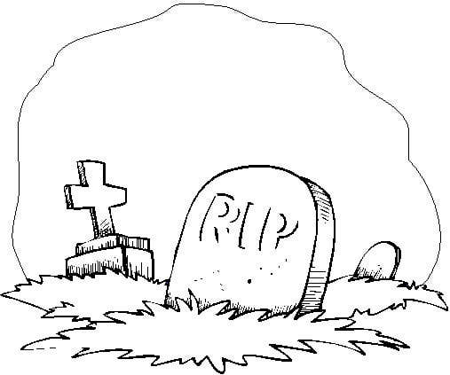 Tombstone clipart funeral. Coloring page laidianqp info