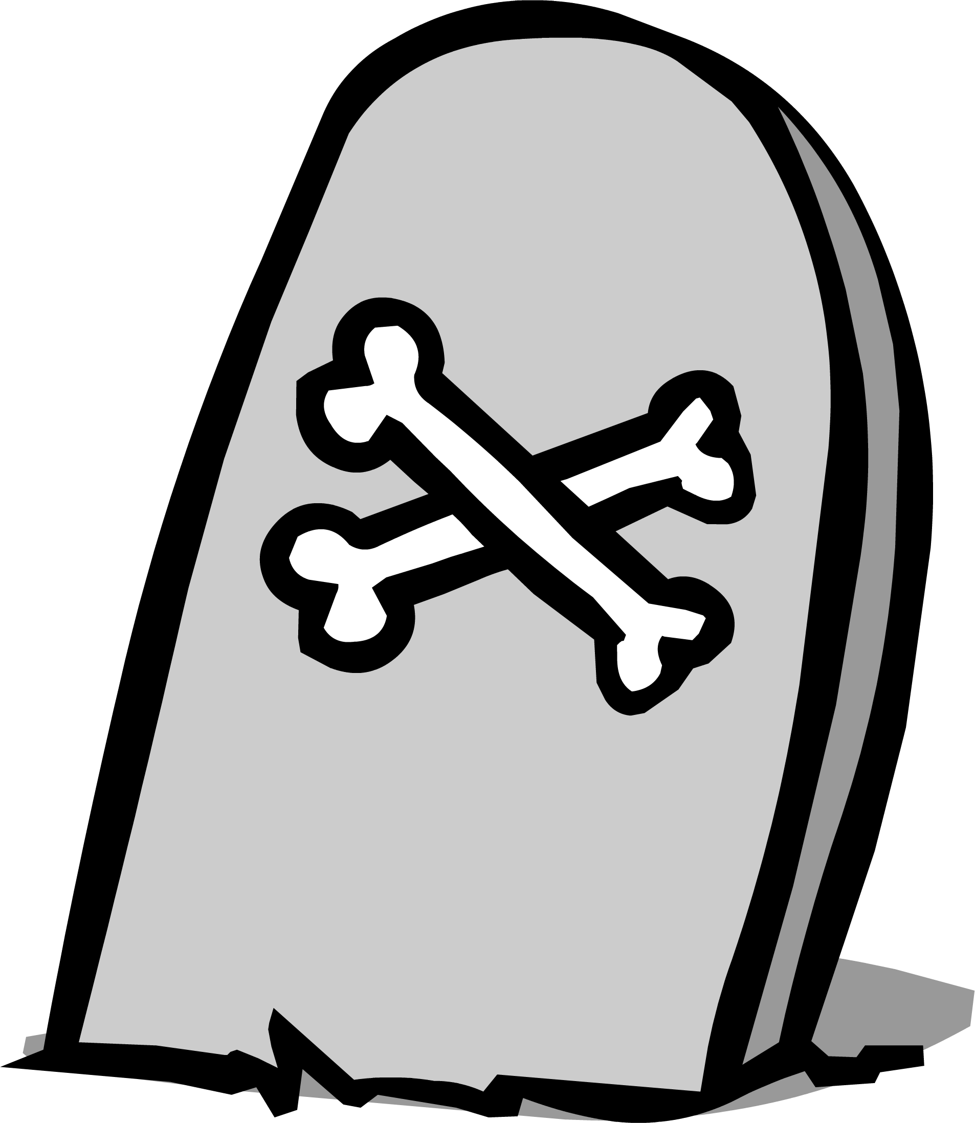 Tombstone png. Image sprite club penguin