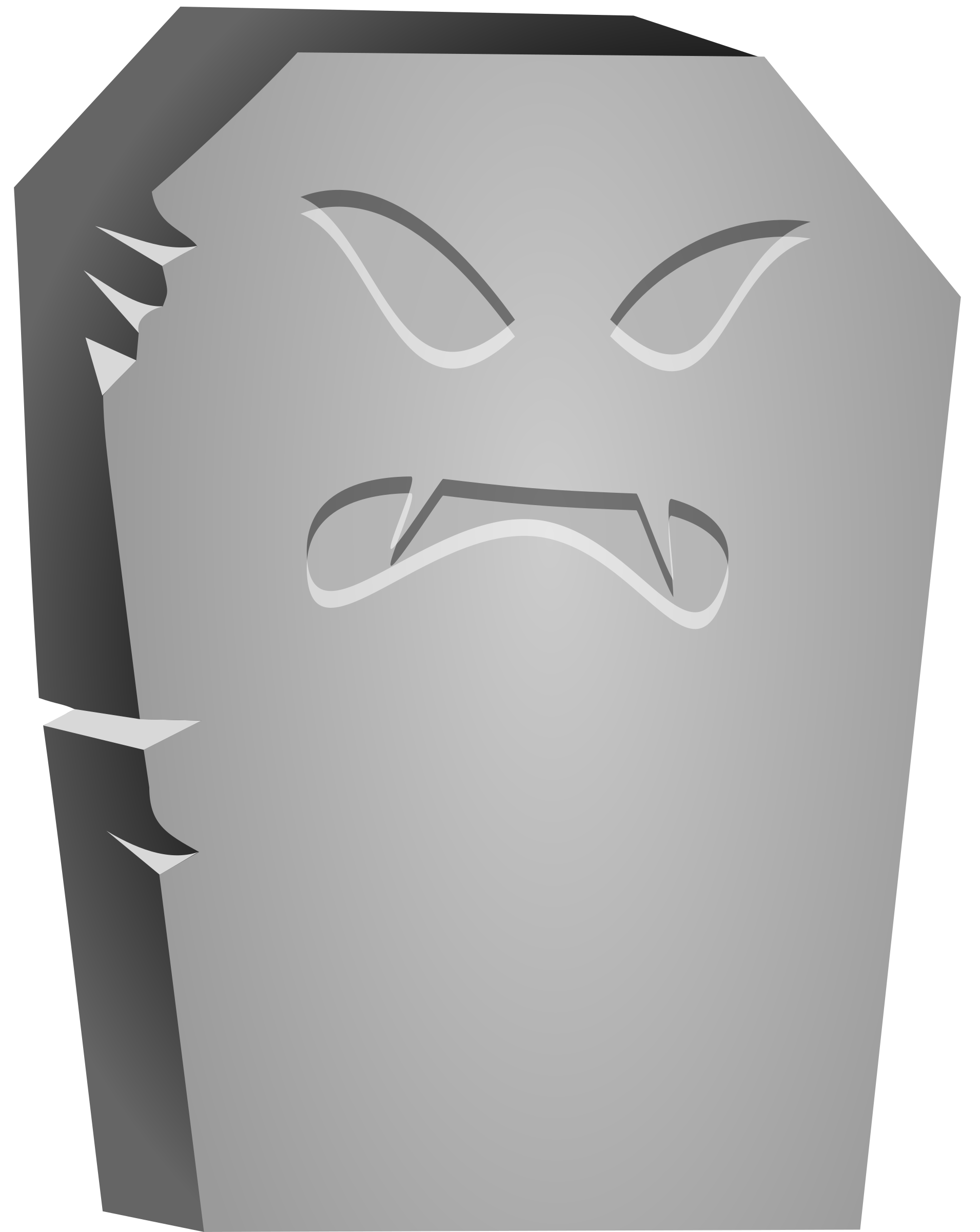 Tombstone .png. Halloween angry face icons