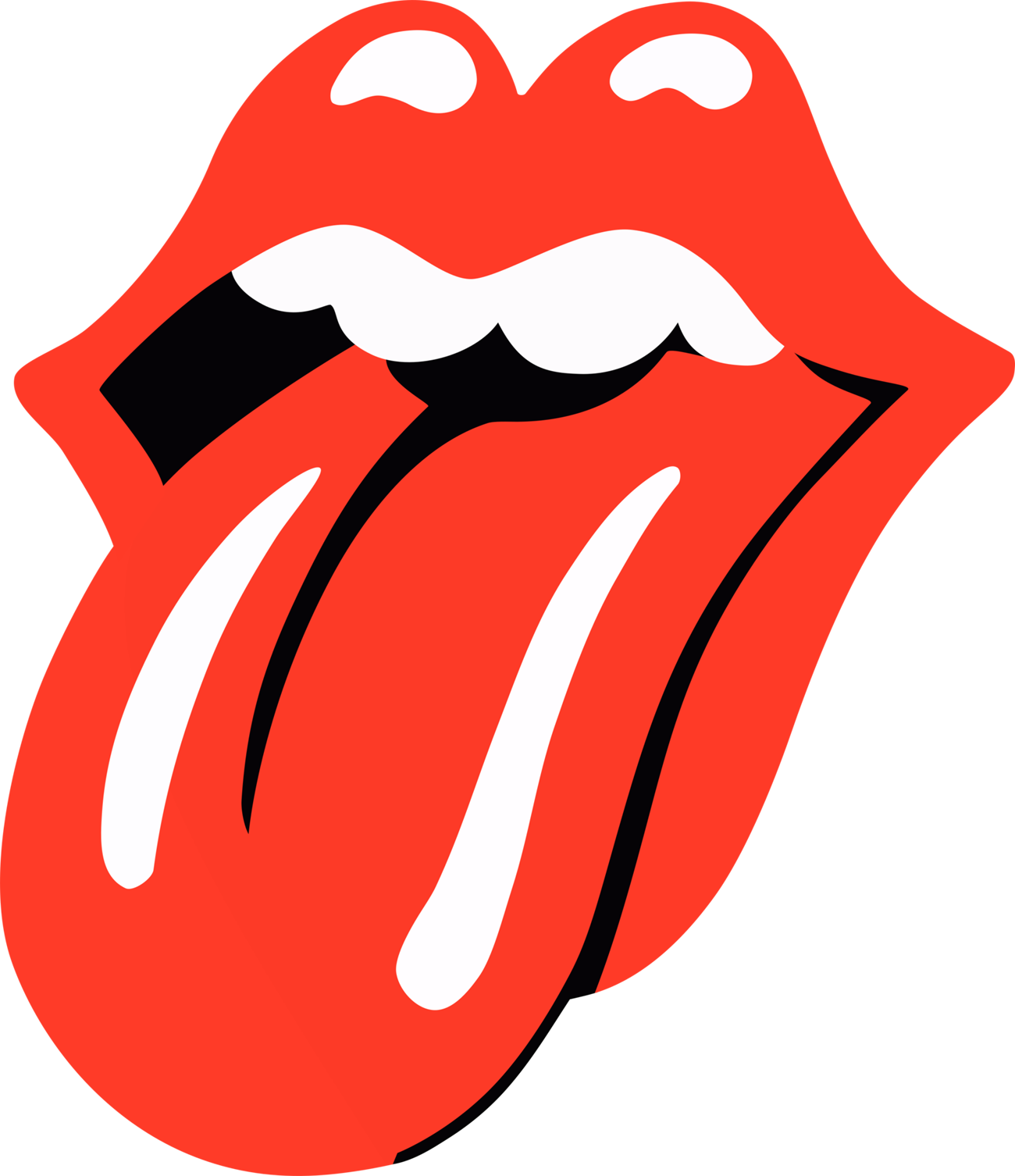 Tongue clip toddler. Rolling stones symbol choice