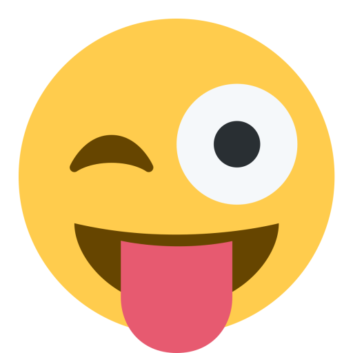 Tongue out emoji png. Eye face joke wink