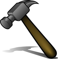 Tool clipart. Hammer and tools