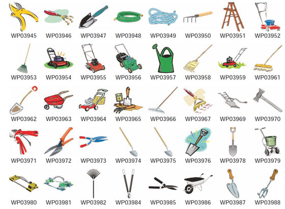 Tool clipart name. Landscape tools names and