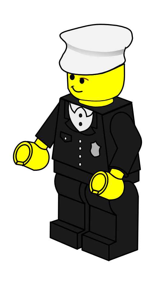 Costume clipart policeman. Lego town i royalty