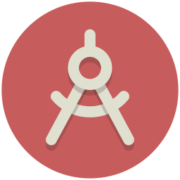 Tool drawing draftsman. Compass icon myiconfinder
