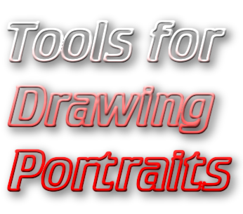 Tool drawing hyperrealism. Tools for portraits from