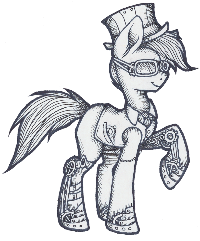 Tool drawing steampunk. Pone by wingedwolf on