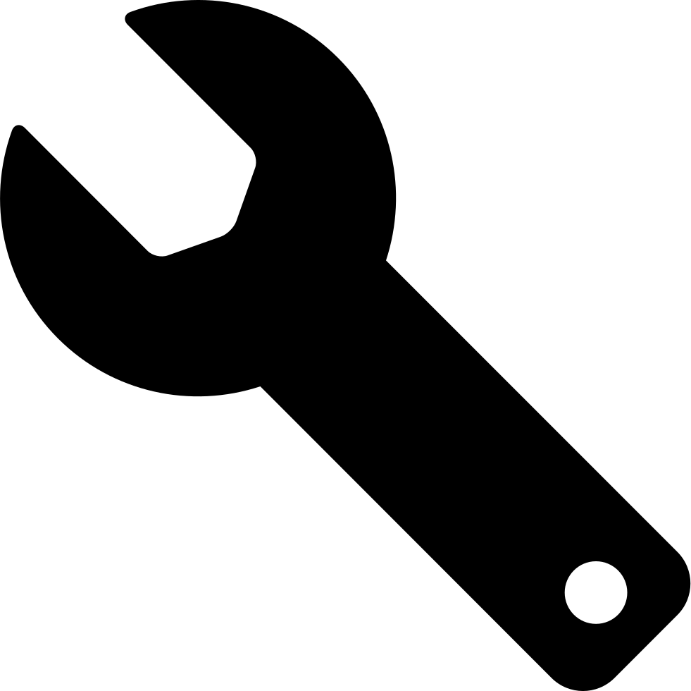 Tool svg. Wrench black silhouette of