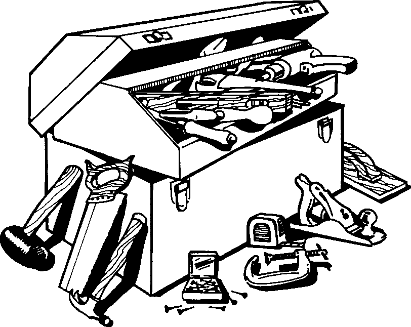 Boxes clipart black and white. Png toolbox transparent