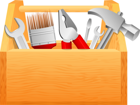 Toolbox clipart carpenter. Tool boxes spanners computer