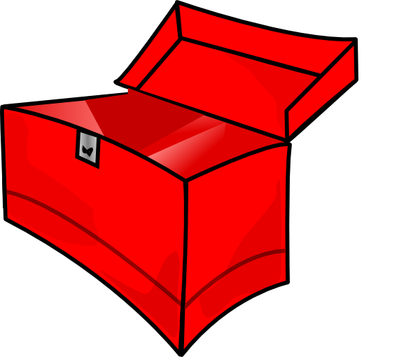 Pop vector empty. Tool box clipart red