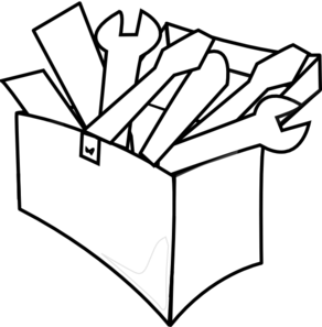 Toolbox clipart tool box. Png black and white