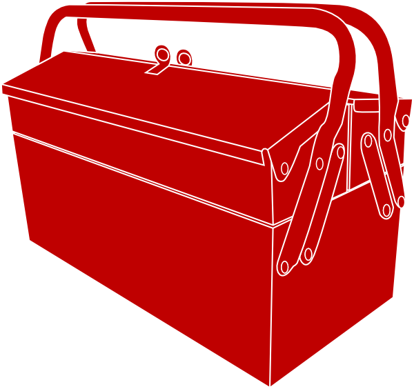 Toolbox drawing diy. Red pinterest and clip