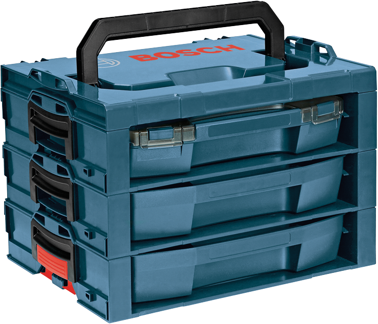 Toolbox drawing tool kit. And accessory storage bosch