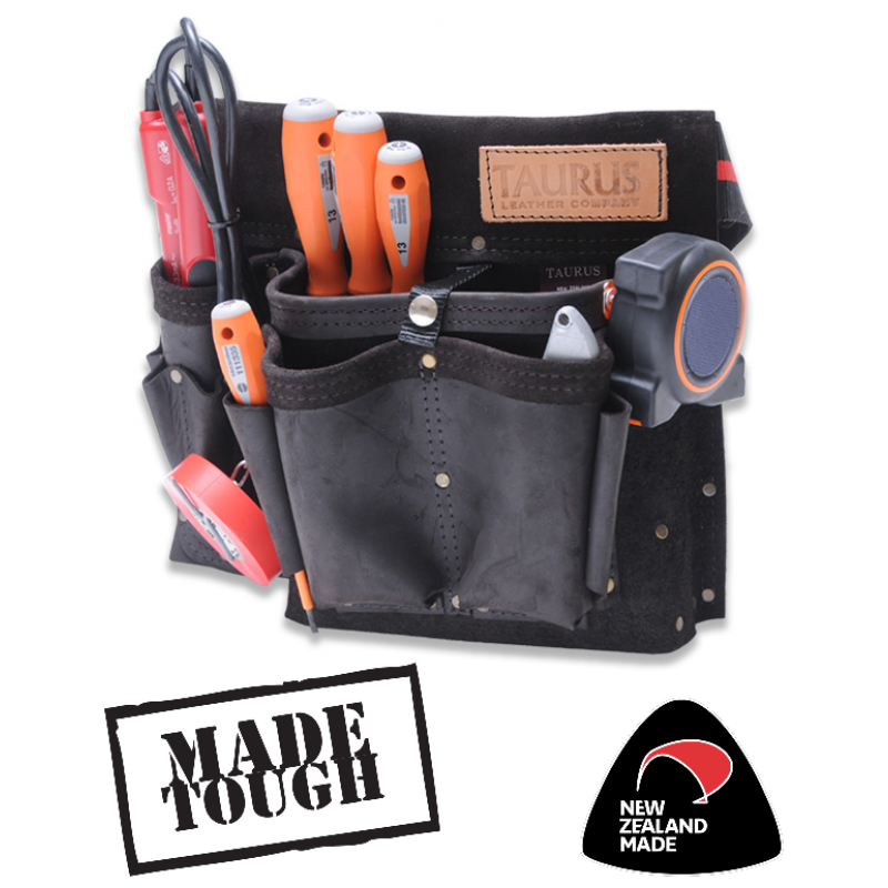 Tools clip belt. Classic electrician s leather