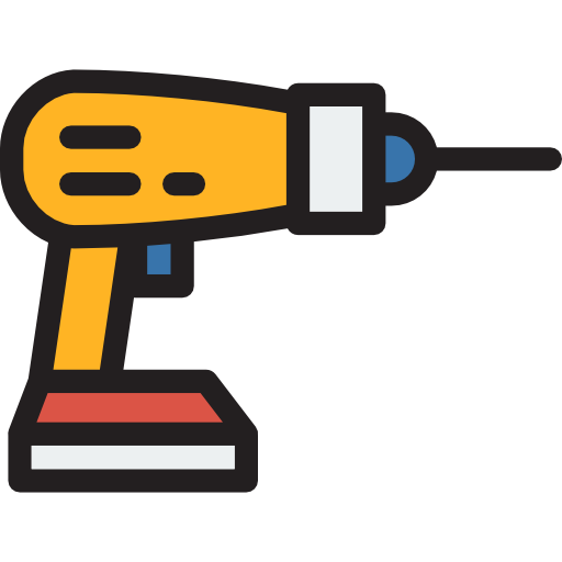 Tools clip drill. Construction technology and utensils