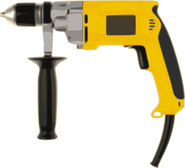 Tools clip drill. Power tool clipart