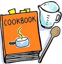 Tools clipart cookery. Free kitchen cooking cookbook