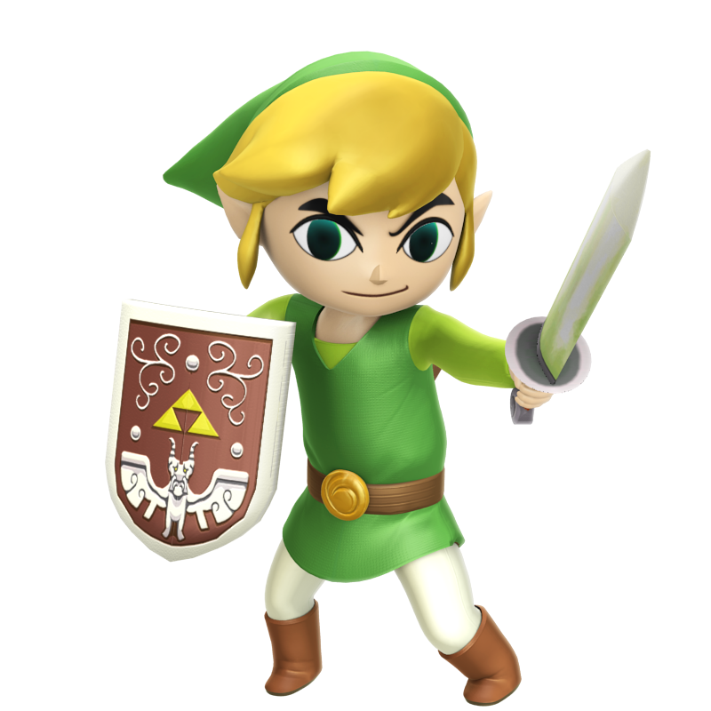 Transparent link cartoon. Image toon hyrule warriors