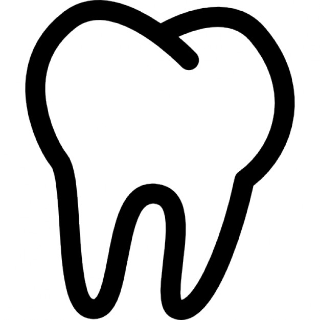 Tooth clipart. Outline icons free download
