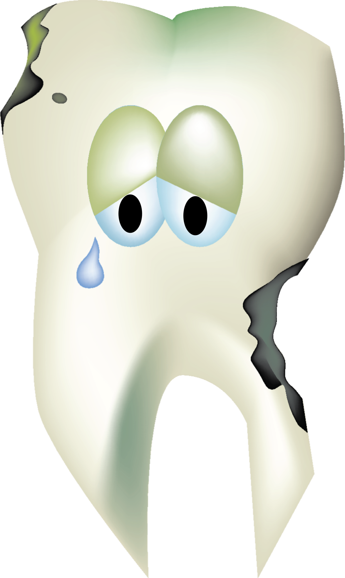 Tooth clipart png. Sad decaying big image